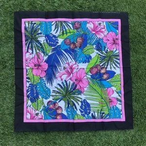 vintage tropical print handkerchief